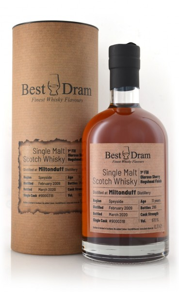 Miltonduff Best Dram Single Malt Whisky
