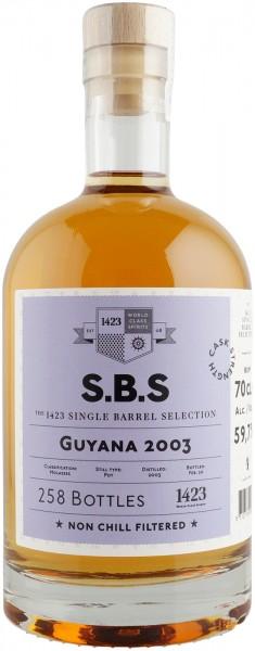 S.B.S Rum Guyana 2003