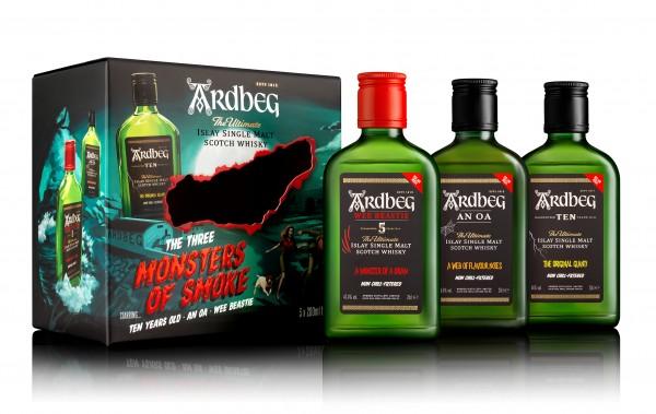 "Ardbeg Single Malt Whisky ""The three Monsters of Smoke"""