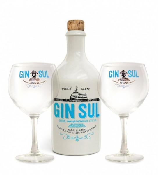 Gin Sul mit 2 Gläsern