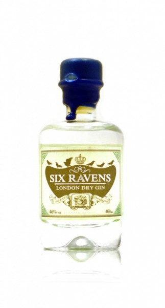 Six Ravens London Dry Gin Miniatur