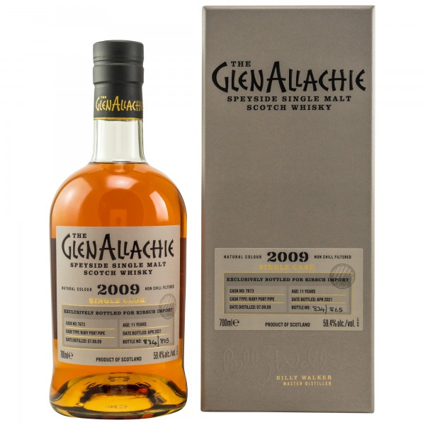 GlenAllachie 2009 Single Malt Whisky Ruby Port Pipe