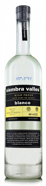 Siembra Valles Blanco Tequila