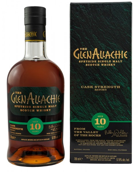 GlenAllachie Single Malt Whisky 10 Jahre Cask Strength Batch 6