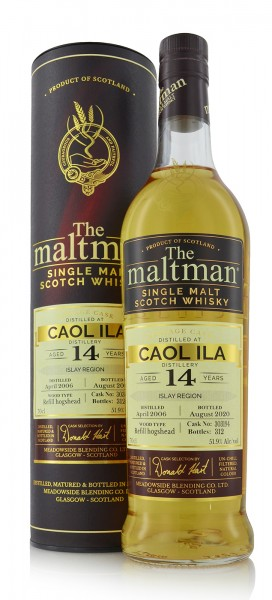 Caol Ila Single Malt Whisky 14 Jahre 2006 The Maltman