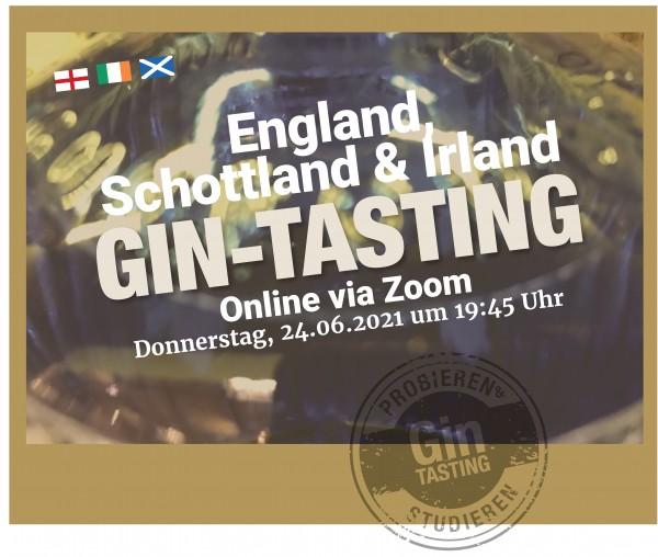Gin-Online-Tasting Schottland & Irland
