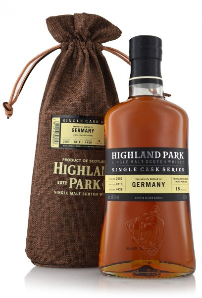 "Highland Park 15 Jahre ""Bottled for Germany"""