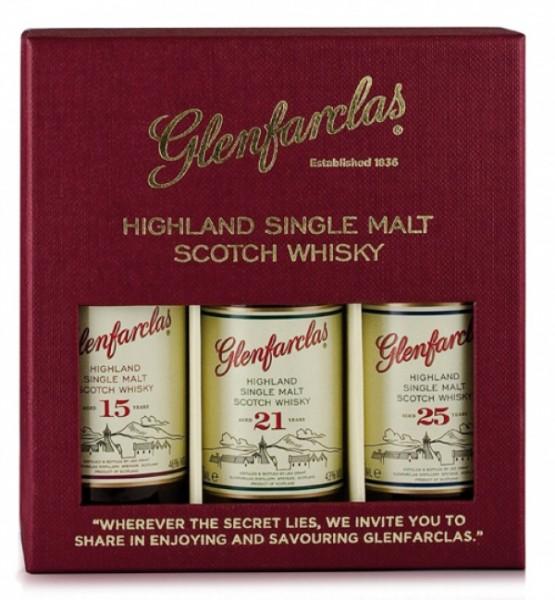 Glenfarclas Tasting Set - 15, 21 und 25 Jahre