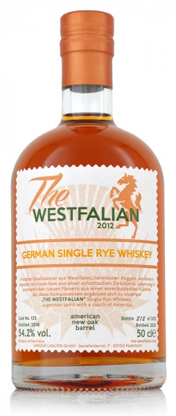 The Westfalian Single Rye Whiskey 2016