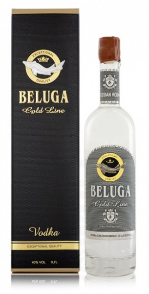 Beluga Gold Line Noble Russian Vodka in GP