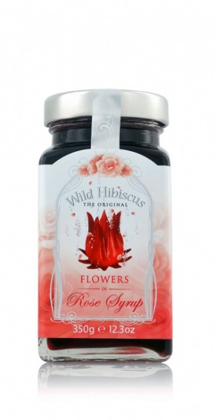 Wild Hibiscus Flowers Rosé Syrup