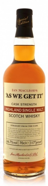 "Ian Macleod's ""As we get it"" Highland Single Malt"