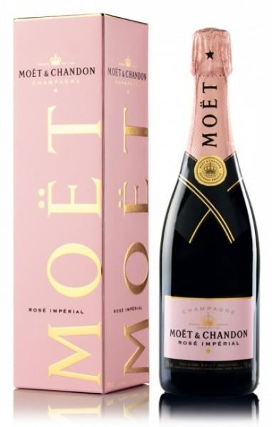 Moët & Chandon Champagner Rosé Imperial in Geschenkverpackung