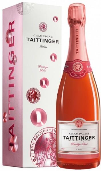Taittinger Prestige Rosé in Geschenkpackung
