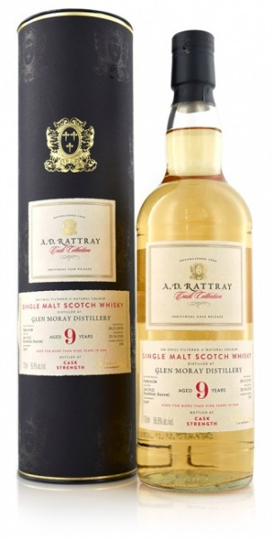 Glen Moray 9 Jahre 2008 A.D. Rattray Cask Collection