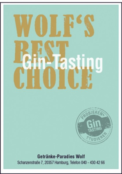 "Gin-Tasting ""Wolfs best Choice""*"