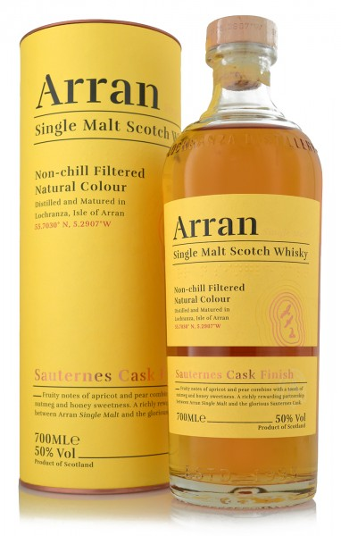 Arran Single Malt Whisky Sauternes Cask Finish