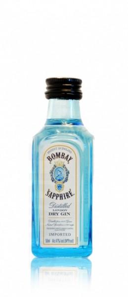 Bombay Sapphire London Dry Gin 40 % Miniatur