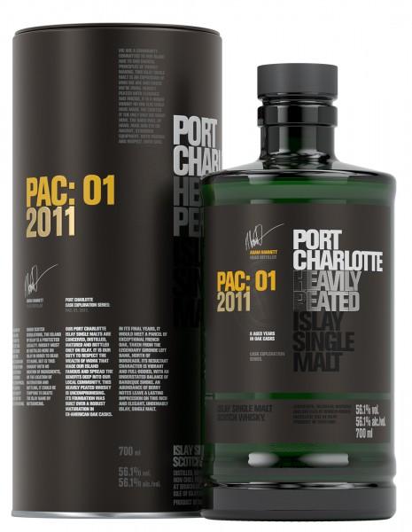 Bruichladdich Port Charlotte Single Malt Whisky PAC:01 2011