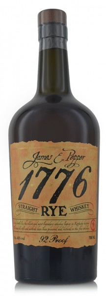 1776 James E. Pepper Straight Rye Whiskey Old Style 92 Proof
