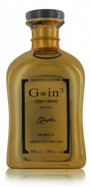 "Ziegler Classic ""G=in3"" Distilled Dry Gin Gold Limited Edition"