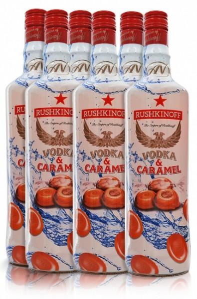 Rushkinoff Vodka & Caramel 6er
