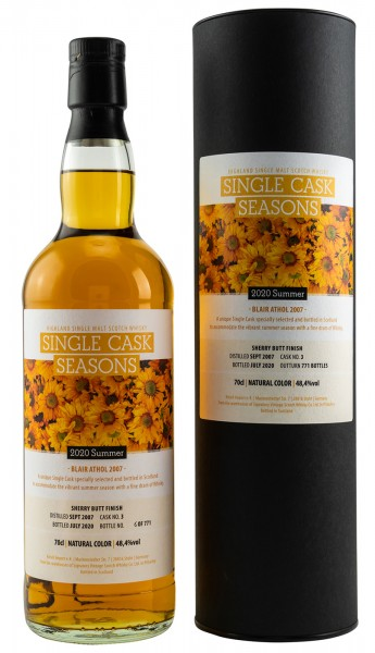 Blair Athol 2007 Single Cask Whisky Seasons Summer Signatory