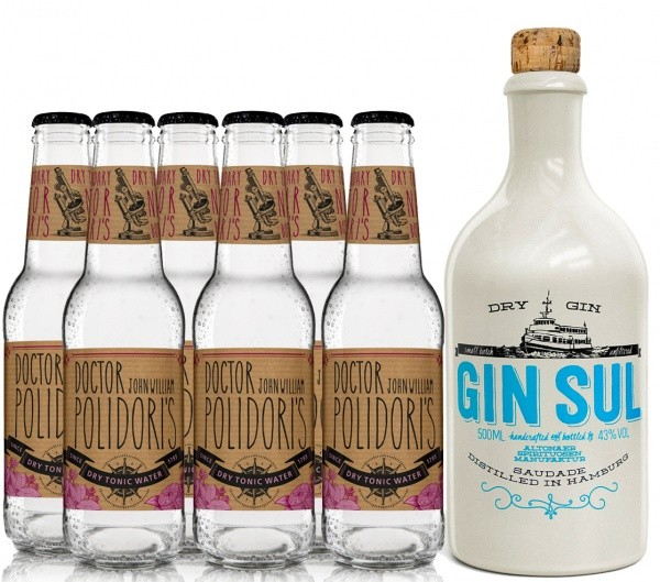 Gin Sul & Dr. Polidori's Dry Tonic-Set