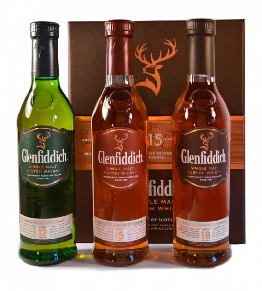 Glenfiddich Giftset 12, 15 und 18 Jahre
