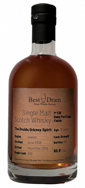 The Druids Orkney Spirit 12 Jahre Port Cask Finish Best Dram